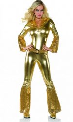 gold disco jumpsuit one piece jumpsuit