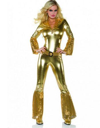 gold disco jumpsuit one piece jumpsuit