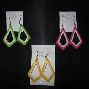 1960s mod triangle earrings