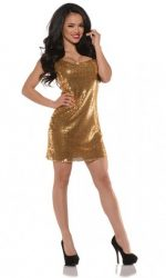 gold sequin dress disco dress