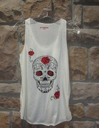 skull roses tank top