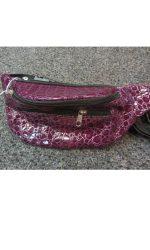 80s fanny pack snakeskin waist pack