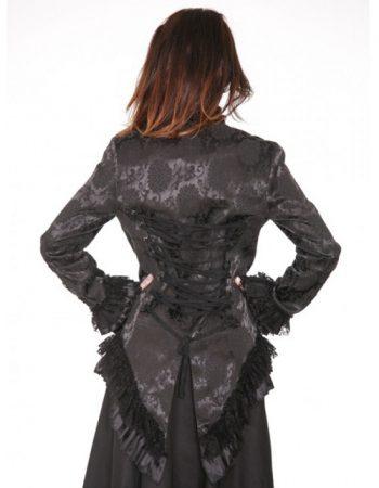 brocade jacket back view
