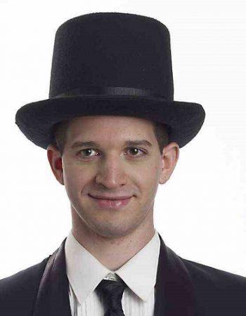 Coachman steampunk top hats black wool