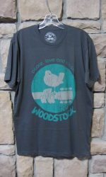 Men's Woodstock t-shirt dove guitar