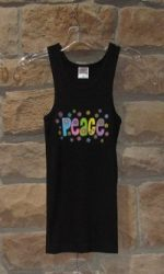 retro tank tops peace and love