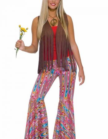 swirl printed bell bottoms
