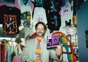 Backward Glances vintage clothing shop Halloween DJ