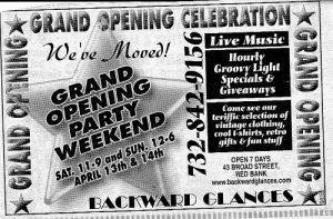 Backward Glances vintage clothing shop grand opening