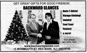 Backward Glances vintage clothing store Monmouth Street holiday ad