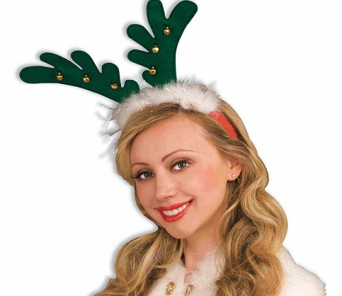 antlers with bells Christmas headband