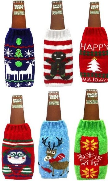 ugly Christmas sweater beer bottle koozie