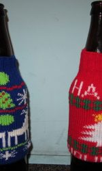 Christmas sweater beer bottle koozie