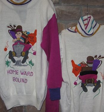 Bonnie Boerer sweaters 80s sweaters Little Old Lady From Pasadena