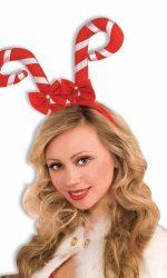 candy cane Christmas headband