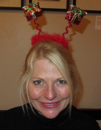 glitter present headband Christmas headband