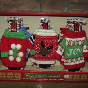 ugly Christmas sweaters wine bottle sweater