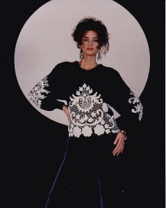 Bonnie Boerer lace and sequin sweaters