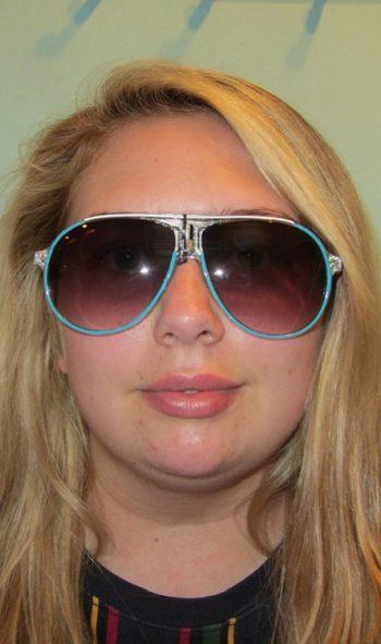Funky aviator style glasses: blue