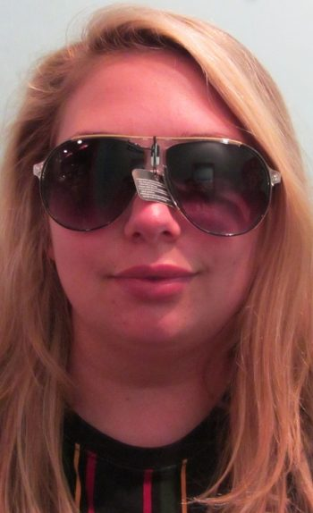 funky aviator style glasses: black