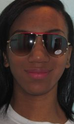 funky aviator style glasses red