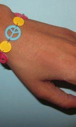 linked peace bracelet