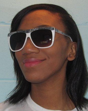 reptile sunglasses white