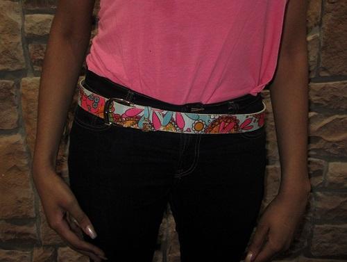 60s floral belt