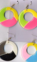 80s fashion style earrings