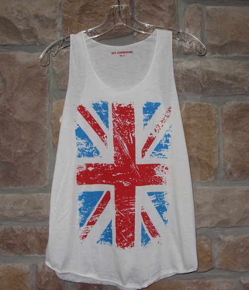 union jack tank top British Invasion music