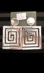 geometric earrings maze earrings