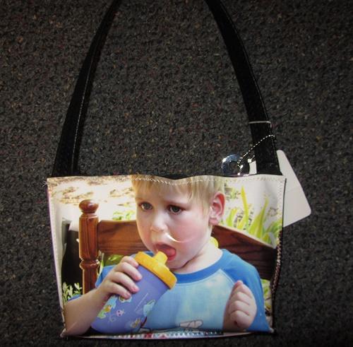 custom photo bag arm clutch