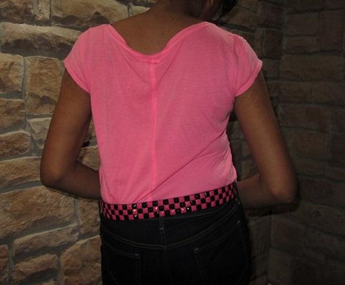 stud belt pink