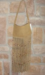 suede fringe purse light brown tan