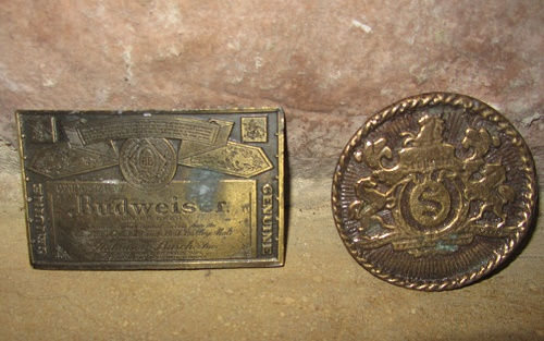 beer buckle seagrams budweiser belt buckle