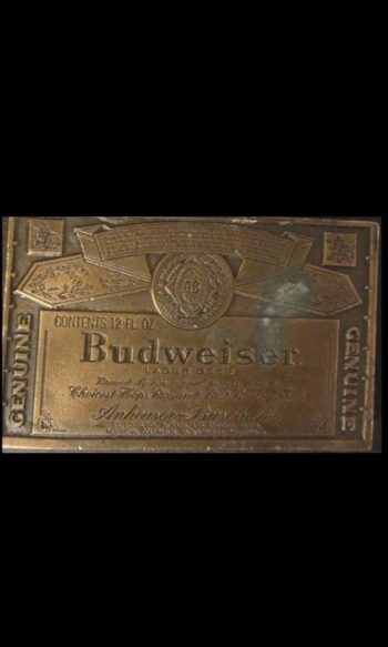 Budweiser beer buckle