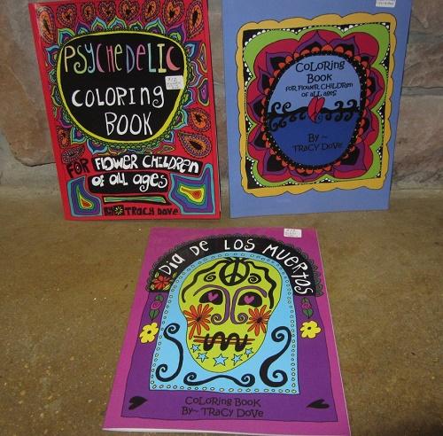 Psychedelic coloring book dia de los muertos coloring book