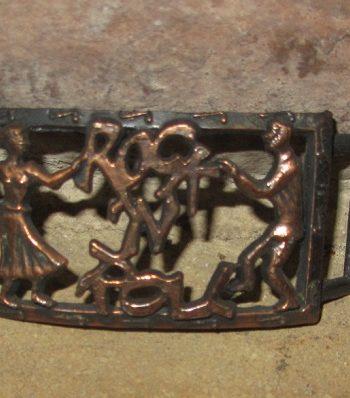 rockabilly dancers belt buckle