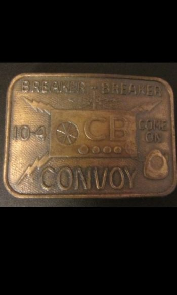 Convoy belt buckle Trucker belt buckle