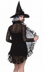 Black lace jacket spiderweb lace