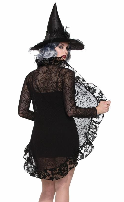 Black lace jacket spiderweb lace