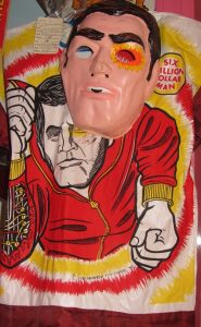 1974 costume & mask: the Six Million Dollar Man