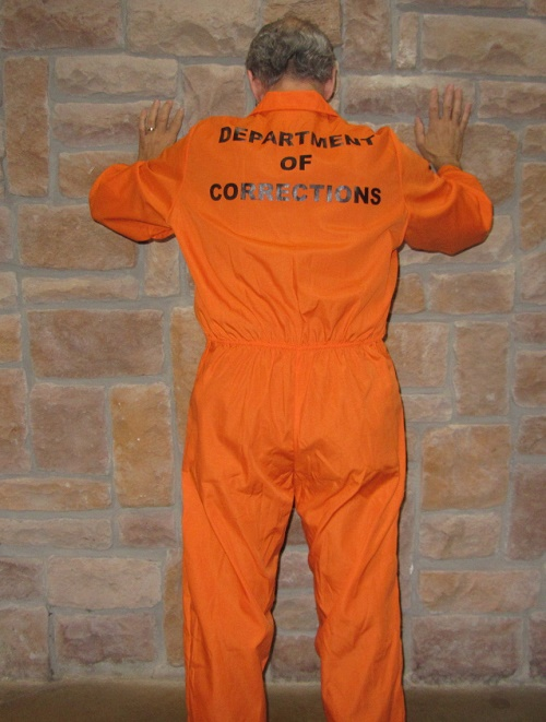 Jail jumpsuit orange prisoner jumpsuit prisoner costume