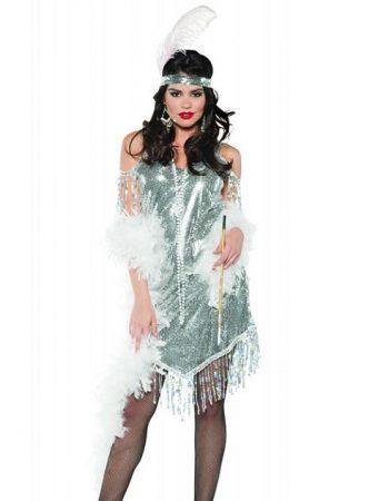 Swingin' silver flapper dress