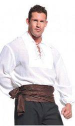 white pirate shirt