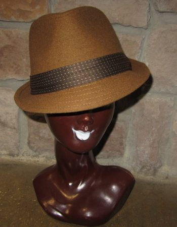 brown wool fedora