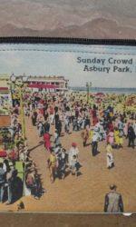 Asbury Park vintage postcard small zipper pouch