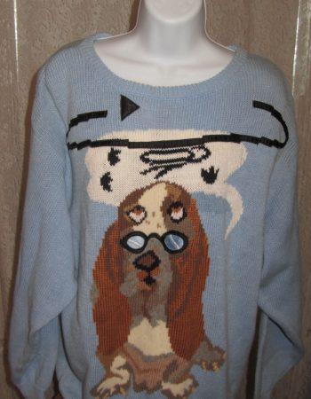 Bonnie Boerer sweaters: Dog