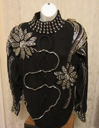 Bonnie Boerer sweaters: beaded flowers