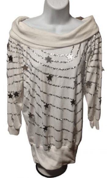 Bonnie Boerer sweater with stars